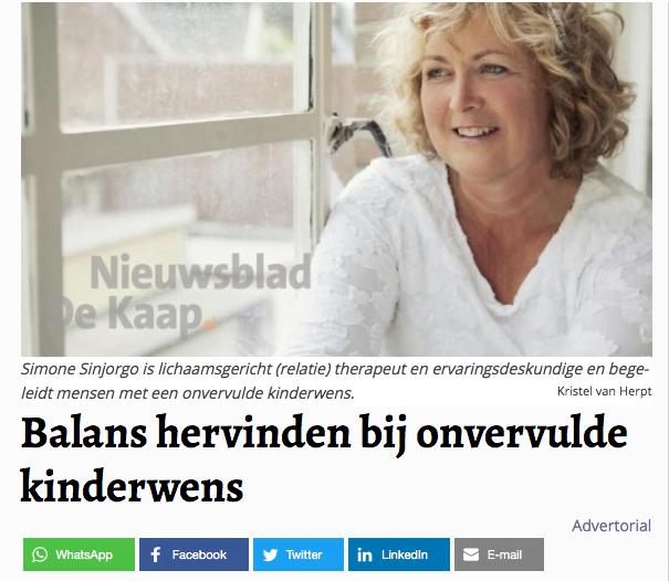 Artikel Nieuwsblad De Kaap
