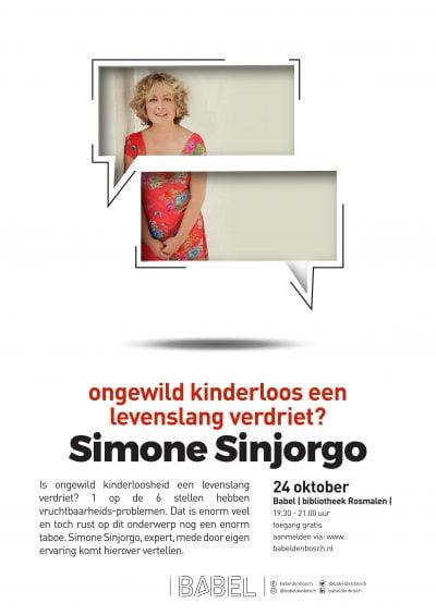 Lezing Onvervulde kinderwens Simone Sinjorgo