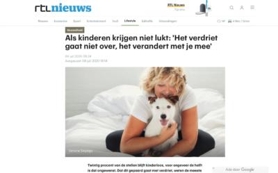RTL nieuws Als kinderen krijgen niet lukt: 'Het verdriet gaat niet over, het verandert met je mee' 04 juli 2020