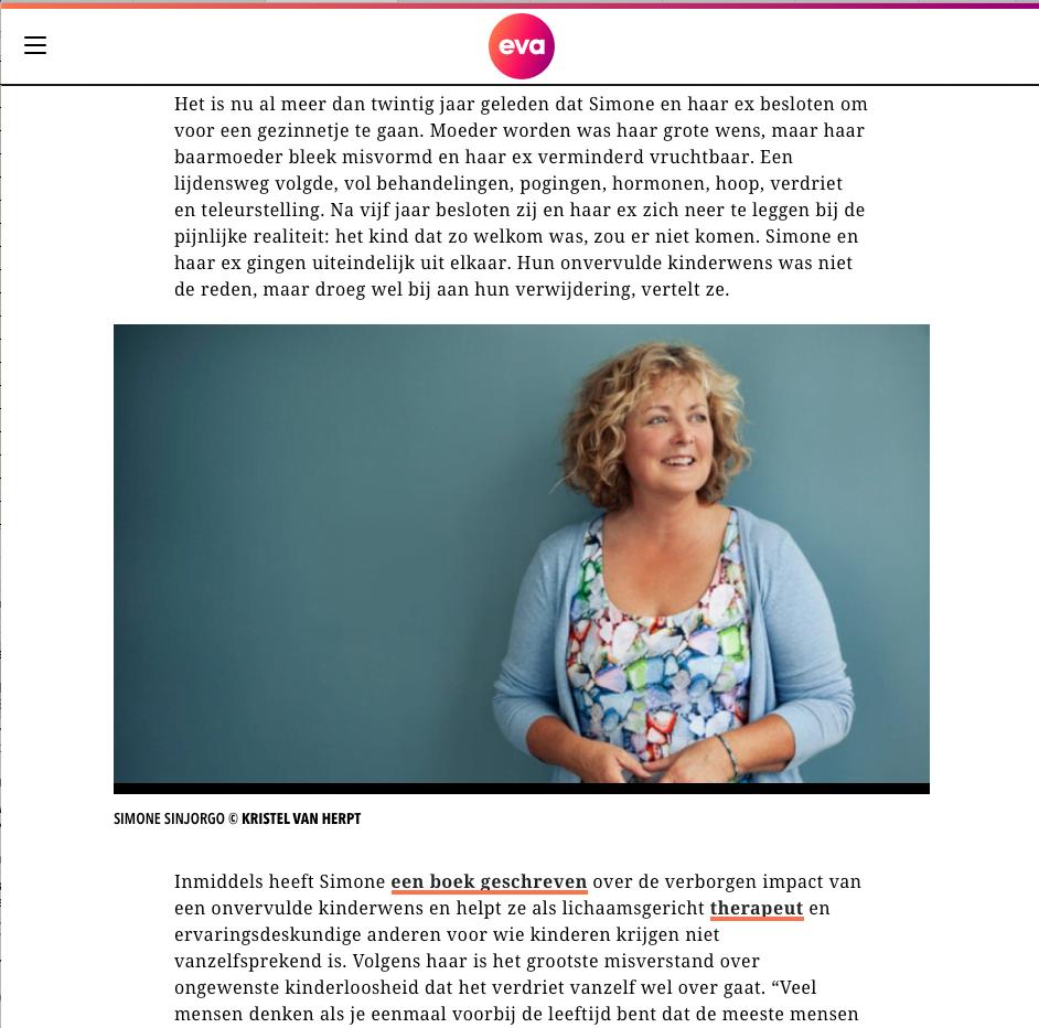 Artikel evajinek.nl als kinderen krijgen niet lukt